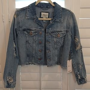 Forever 21 Denim Jacket With Distressing